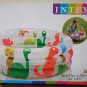 """Детский надувной бассейн Intex 57106 """"Динозавры"""" (Интекс, интэкс)"""