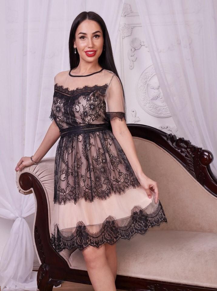 Роскошное платье из удобной модной сеткой! фото №1