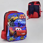 Детский школьный рюкзак 42 на 30 см Тачки