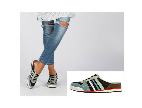 Сабо кожаные кроссовки открытые женские мятно черно синие дышащие клоги шлепанцы фото №1