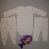 Набор боди и штаников на девочку 0-3 месяцев F&F