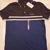 мужское синее поло LC Waikiki / Лс Вайкики с темным воротником