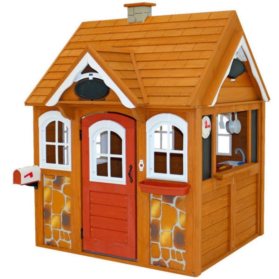 Kidkraft детский деревянный домик со звонком и кухней stoneycreek cedar outdoor playhouse 00401 cott фото №1
