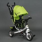 Велосипед детский 3-х колёсный 6588 салатовый Best Trike, колесо пена