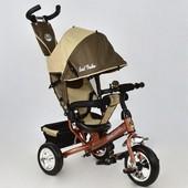 Велосипед 6588 - 0230 Best Trike шоколадно-бежевый, колесо пена, переднее d 25см. задние d 20см.