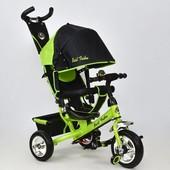 Велосипед 6588 - 1020 Best Trike салатовый, колесо пена, переднее d 25см. задние d 20см