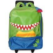 Детский дорожный чемодан на колесиках. Динозавр.