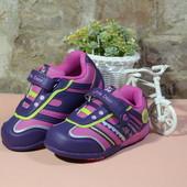 бесплатная пересылка распродажа демисезонные кроссовки на девочку с мигалками р. 22 23 B&G BG фиолет