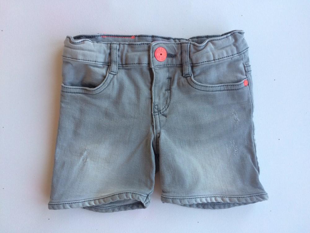 4 г (104) шорты джинсовые с потертостями для девочки фото №1