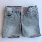 4 г (104) шорты джинсовые с потертостями для девочки