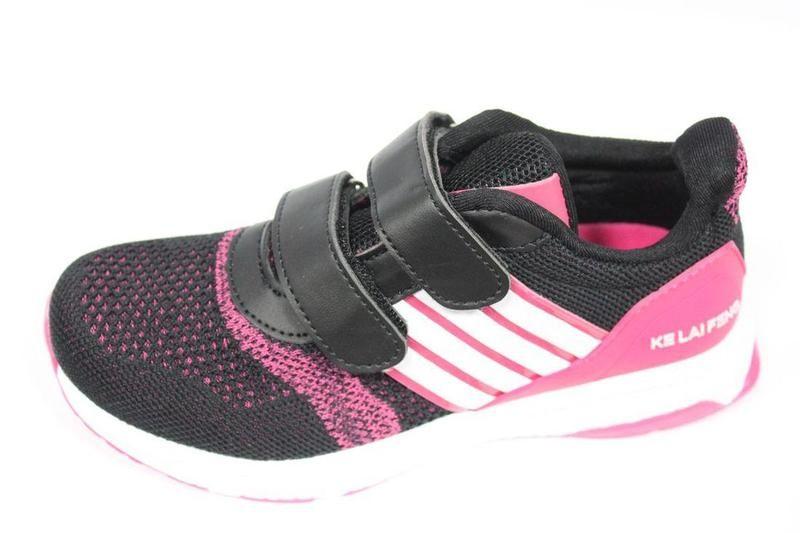 Кроссовки для девочки klf 37(р) черный, малиновый 6158-3b  кроссовки для девочки фото №1