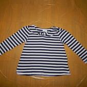 1,5-3 года, р. 86-98, красивый реглан футболка Next фирменная с длинным рукавом