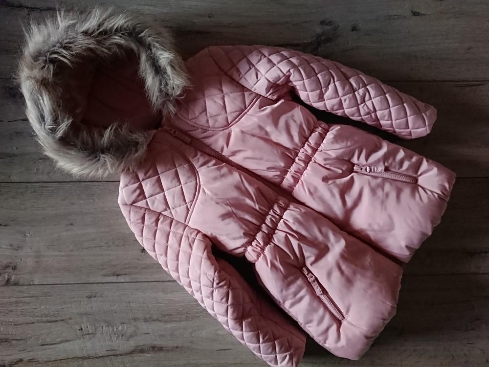 Новая куртка удлиненная еврозима на флисе джордж george 5-6 лет 110-116 см влагоустойчива  фото №1