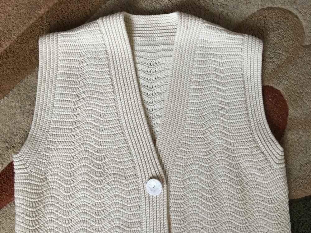 Жилет, вязаный крючком, под заказ handmade knitting arm_knitting hand_knit фото №1