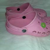 Нежные кроксы Crocs р.1-3 стелька 20,5 см