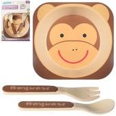 набор эко посуды для ребенка бамбук