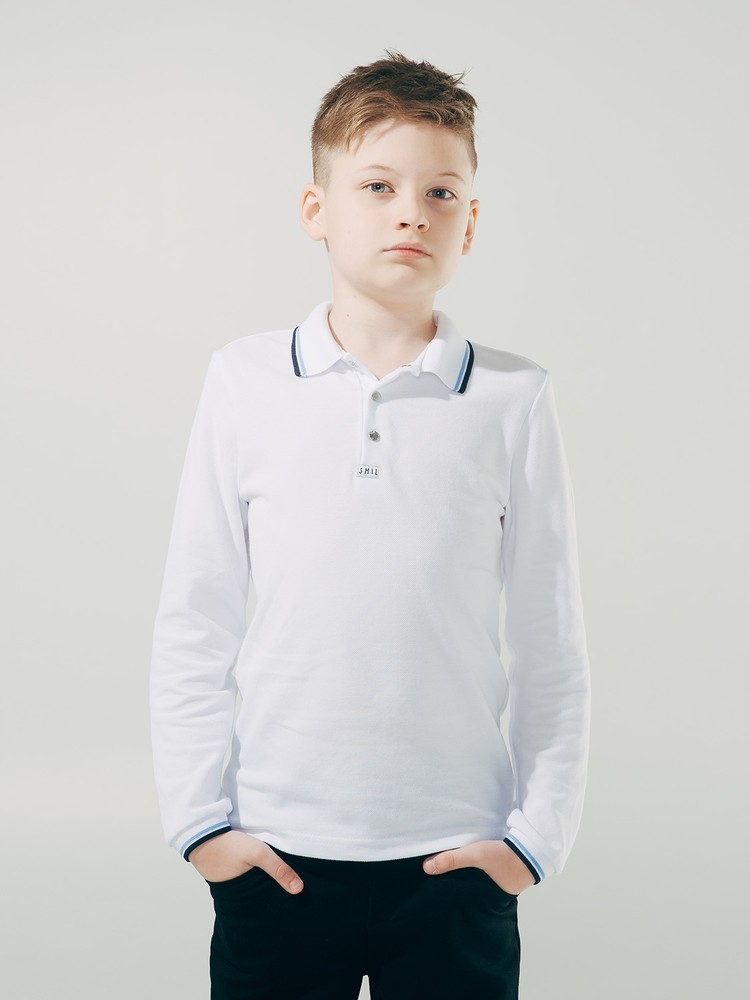 Школьная форма, smil футболка- поло, длинный рукав фото №1