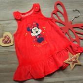 Платье сарафан бархат с Минни Disney (6-9 мес)
