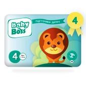 Детские одноразовые подгузники Baby Boss Maxi 4 (7-18кг), 42шт. Акция!!!