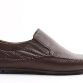 Классические мокасины коричневого цвета BFG Moda.shoes- 002. фирменная Турция