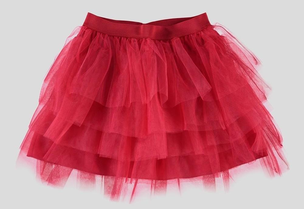 Юбка красная lc waikiki / лс вайкики для стильных маленьких девочек фото №1