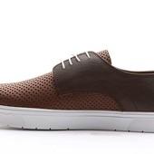 Мокасины на белой подошве с перфорацией BFG Moda.shoes- 010. фирменная Турция