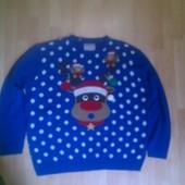Фирменный новогодний свитер кофта 3XL