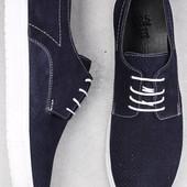 Синие туфли на белой подошве спортивные BFG Moda.shoes- 012. фирменная Турция