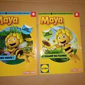 Книга с наклейками пчелка Мая книжка иностранный язык