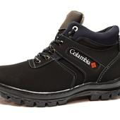 Зимние мужские Ботинки из нубука, качественные и прошитые (РБ-4М)