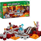 Конструктор Decool 825 Майнкрафт Подземная железная дорога (аналог Lego Minecraft 21130)