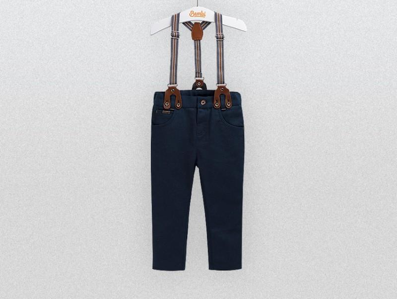 Бемби брюки на  подтяжках премиум фото №1