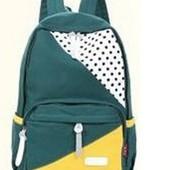 Рюкзак темно зеленый.