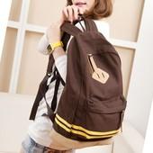 Рюкзак  городской коричневого цвета.