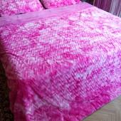 Меховое покрывало одеяло волна