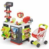 Интерактивный супермаркет Smoby Toys  Market со звуковыми эффектами, тележкой и аксессуарами (350213