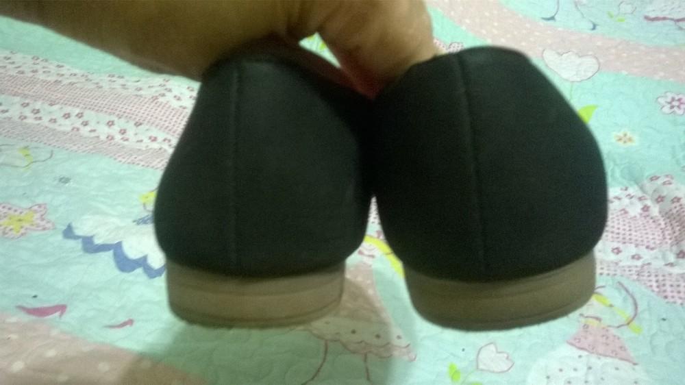 Туфли - балетки для девочки черные школьные нубук, размер 35 фото №4