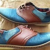 Туфли мокасины джинсовые Oregon р.42-27.5см