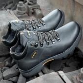 Мужские кожаные зимние ботинки Ecco мод130. Прошиты проклеены, Проверенное качество 40-45