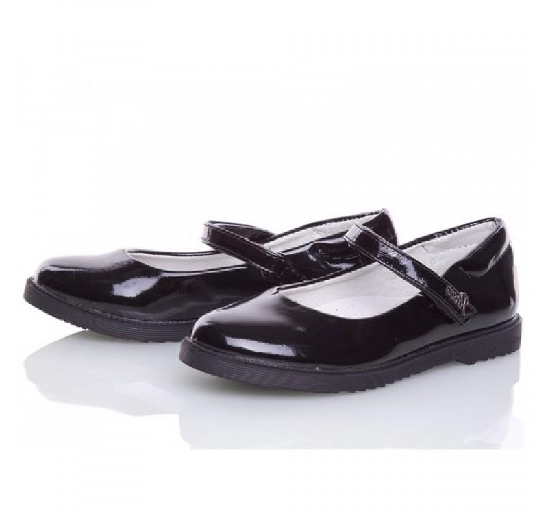 Туфли для девочки солнце 27, 28, 29, 30, 31(р) черный xs19-15 школьные туфли для девочки черного фото №5