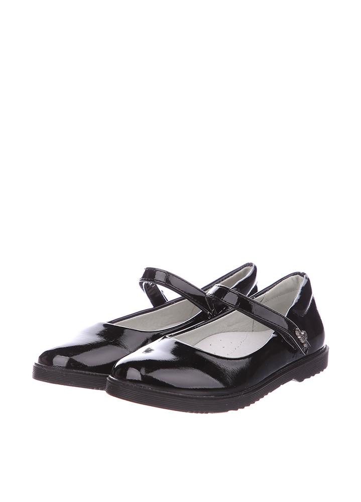 Туфли для девочки солнце 27, 28, 29, 30, 31(р) черный xs19-15 школьные туфли для девочки черного фото №1