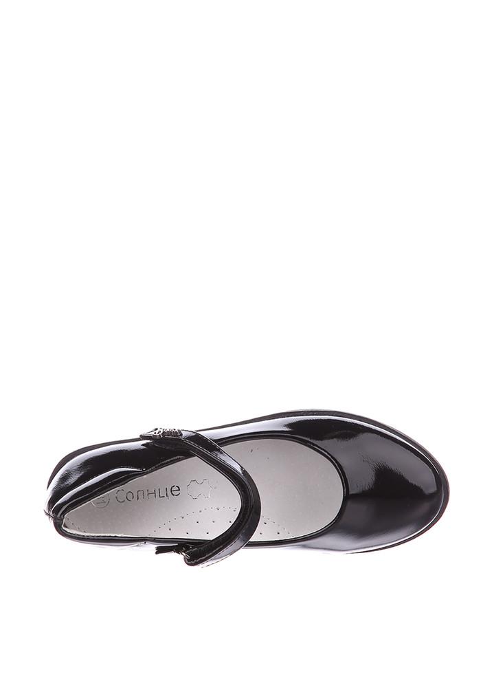 Туфли для девочки солнце 27, 28, 29, 30, 31(р) черный xs19-15 школьные туфли для девочки черного фото №3