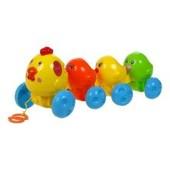 Распродажа - свет звук  каталка Курочка с цыплятами от BeBeLino свет звук каталочка деткам малышам