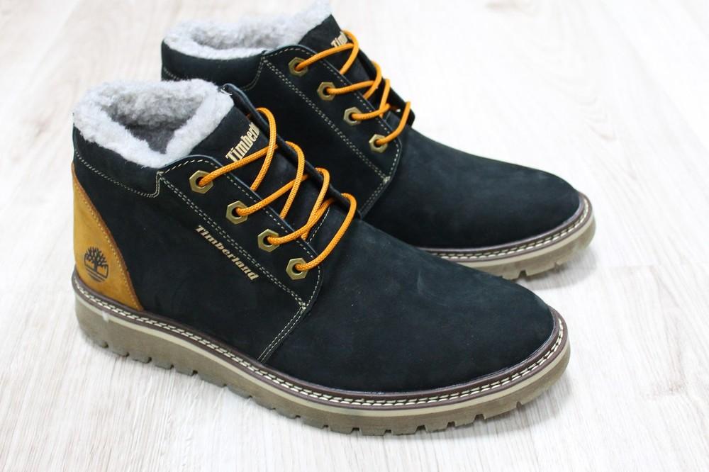 Мужские зимние ботинки из натурального нубука, код ks-2754, цена ... d440cf07405