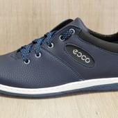 Кроссовки мужские в стиле Ecco темно-синие (ЛК-10БС)