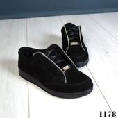 Новинка! женские замшевые/кожаныезакрытые туфли код:КК 1178