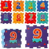 Детский коврик- пазл Вагончик с цифрами