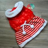 Новогоднее платье костюм для собаки Pooch Couture