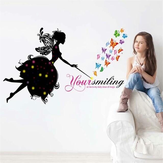 Интерьерная наклейка «летающая фея» фото №1
