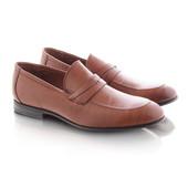 Мужские туфли коричневого цвета без шнуровки